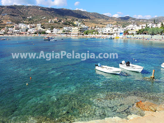 panoramic view of the beach of Agia Pelagia