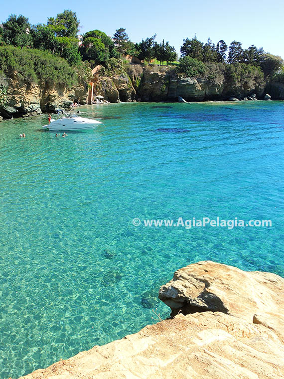 Filakes beach in Agia Pelagia