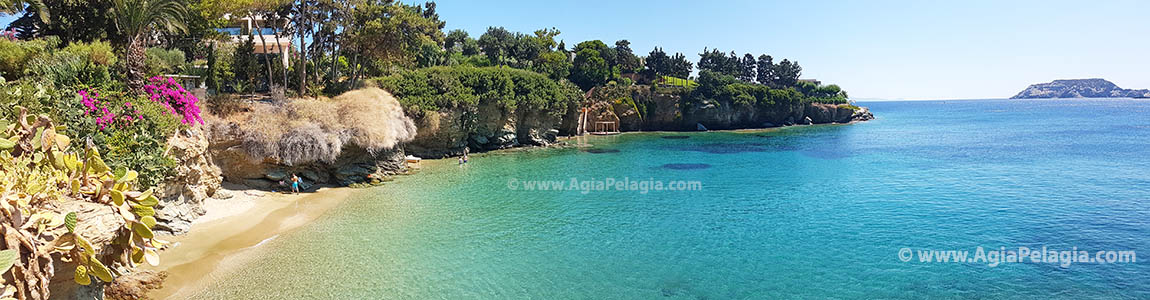 on of the great beaches in Agia Pelagia resort on the islandf of Crete