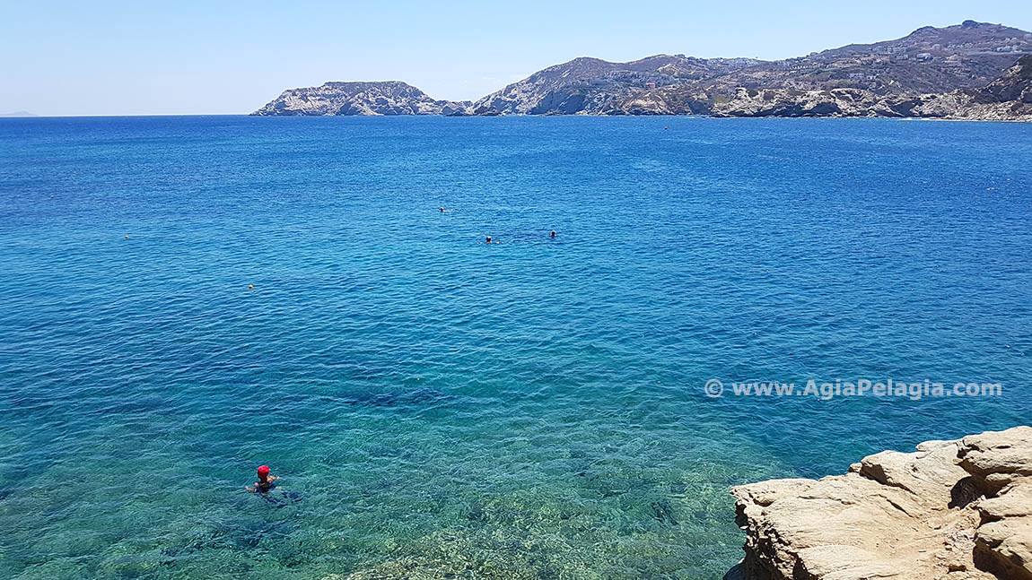 beach of Fylakes in Agia Pelagia island of Crete