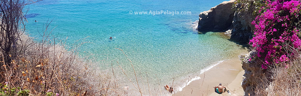Fylakes beach just under Capsis Elite Resort Hotel in Agia Pelagia CRETE