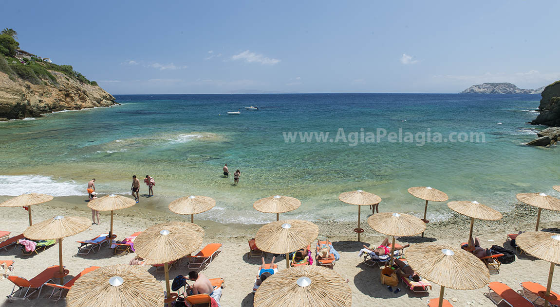 the beach of Mononaftis - Panoramic view