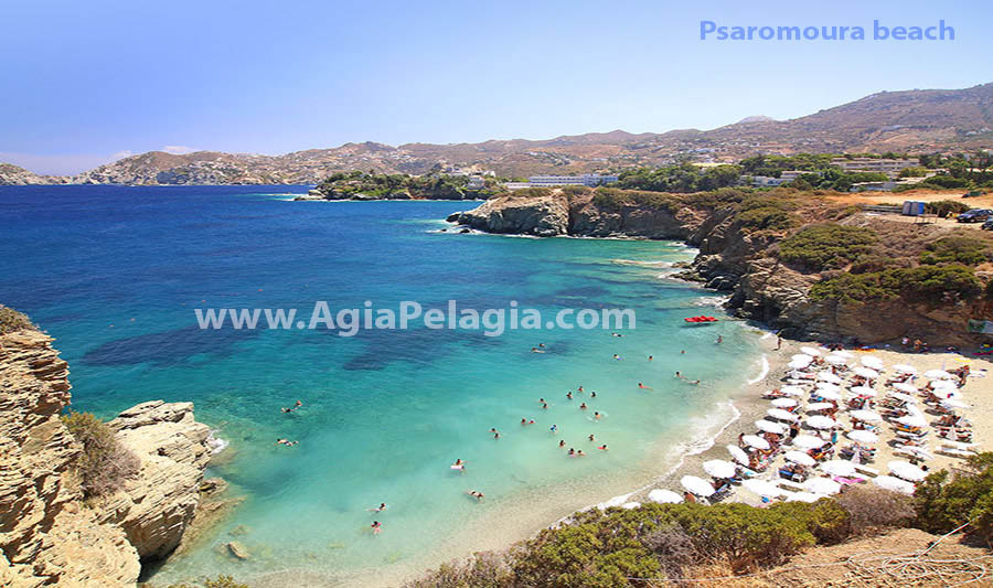 the beach of Psaromoura (Agia Pelagia)