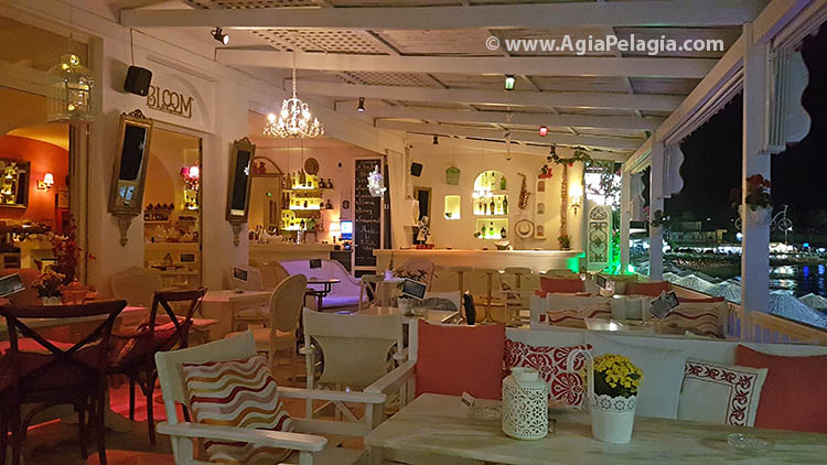 Bloom Bar - cocktail cafe bar in Agia Pelagia beach
