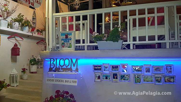 Bloom Bar on the beach of Agia Pelagia