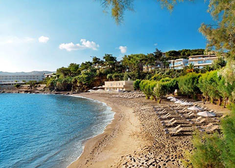 Kladissos-beach at Capsis Elite Resort in Agia Pelagia Crete