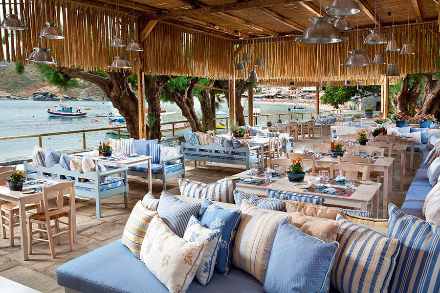Restaurant on the beach of Agia Pelagia