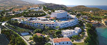 panoramic view of the Peninsula Resort Hotel & Spa in Mononaftis beach