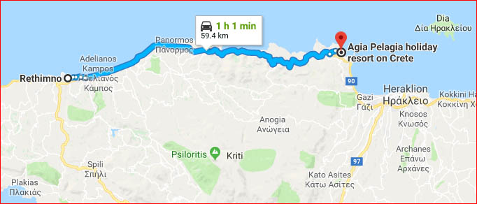 Map Of Agia Pelagia Crete Agia Pelagia S Interactive Maps