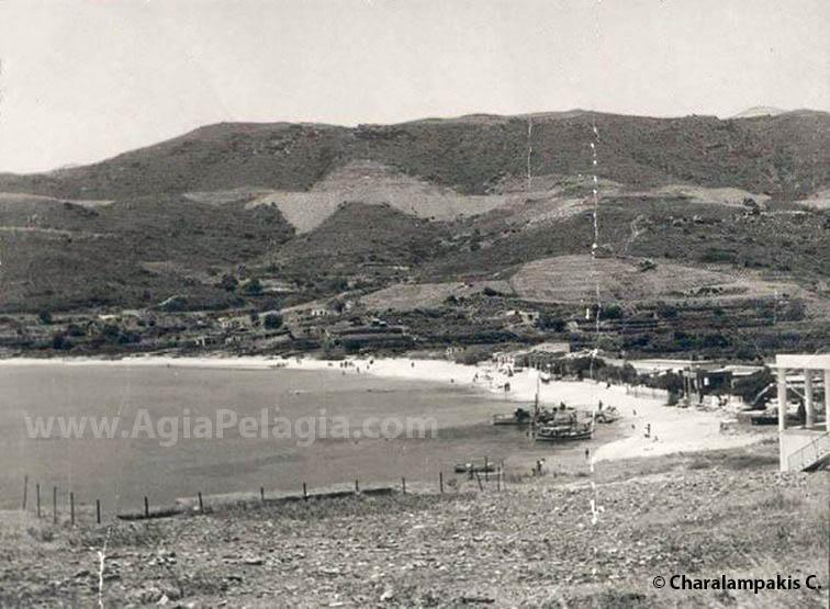 old photo of Agia Pelagia in the 60's - before becoming a popular holiday resort