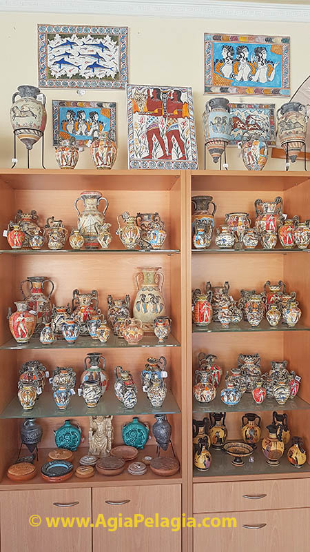Hand Made Museum Reproductions of Ancient Minoan and Greek Pottery