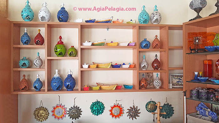 MINOAS Souvenirs and Ceramics Shop in Agia Pelagia Crete