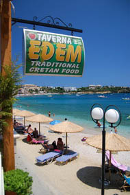 EDEM restaurant on the beach of Agia Pelagia
