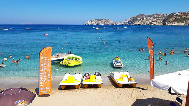 Water Sports Center in Agia Pelagia beach CRETE